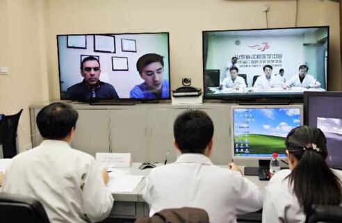 中美远程视频会诊